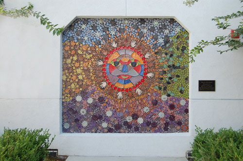 """Jewels of the Earth"" mosaic mural"