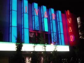 Artist Kuni Ohashi collaborated with architects Tierra Sol y Mar on the design of a major upgrade to the Ivar Theatre's façade. The renovation added neon lighting, large metal letters, new window glass, light boxes and new wall title.